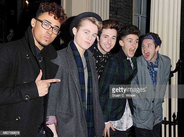 Josh Zar Joe Conaboy Jon James Thompson Matt Cahill and Jay Scott of 'Kingsland Road' attend a party to celebrate 25 years of Magnum at Home House on...