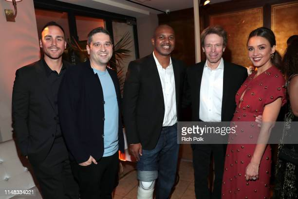 Joshua Alba Brandon Margolis Brandon Sonnier Jerry Bruckheimer and Jessica Alba attend Spectrum Originals and Sony Pictures Television Premiere Party...