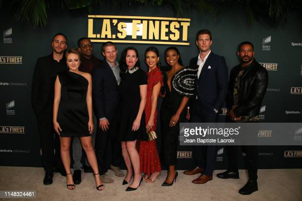 Joshua Alba, Sophie Reynolds, Duane Martin, Zach Gilford, Jessica Alba, Gabrielle Union, Ryan McPartlin and Laz Alonso attend the Premiere Of...