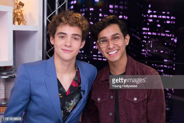 Joshua Bassett and Frankie Rodriguez at the Young Hollywood Studio on October 18, 2019 in Los Angeles, California.