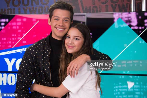 Joshua Bassett and Olivia Rodrigo at the Young Hollywood Studio on October 18, 2019 in Los Angeles, California.