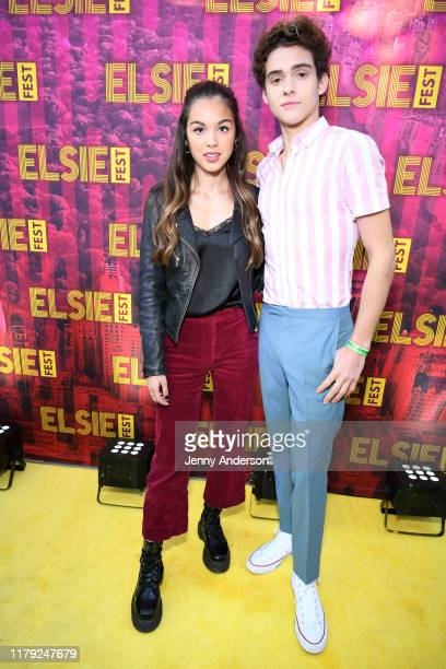 Joshua Bassett and Olivia Rodrigo attend the 5th Annual Elsie Fest Broadway's Outdoor Music Festival on October 05 2019 in New York City