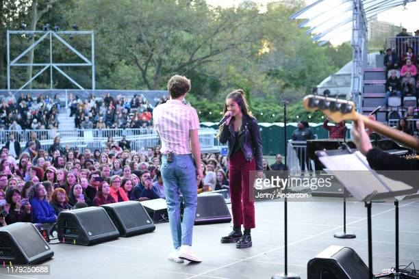 Joshua Bassett and Olivia Rodrigo of High School Musical: The Musical: The Series perform onstage during the 5th Annual Elsie Fest: Broadway's...