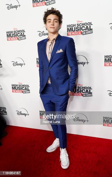 """Joshua Bassett attends the premiere of Disney+'s """"High School Musical: The Musical: The Series"""" at Walt Disney Studio Lot on November 01, 2019 in..."""