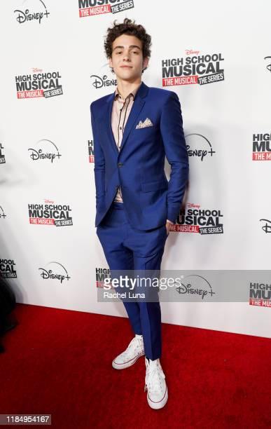 Joshua Bassett attends the premiere of Disney's High School Musical The Musical The Series at Walt Disney Studio Lot on November 01 2019 in Burbank...