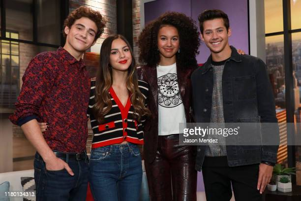 Joshua Bassett, Olivia Rodrigo, Sofia Wylie and Matt Cornett visit People Now on November 5, 2019 in New York, United States.