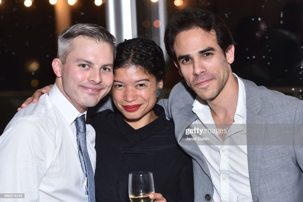 Joshua Beamish, Vania Doutel Vaz and Francisco Graciano attend Joshua Beamish + MOVETHECOMPANY Premieres 'Saudade' in NYC at Brooklyn Academy of Music on October 11, 2017 in New York City.