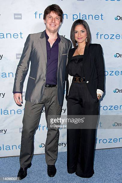 """Joshua Bell and Larissa Martinez attend the """"Frozen Planet"""" premiere at Alice Tully Hall, Lincoln Center on March 8, 2012 in New York City."""