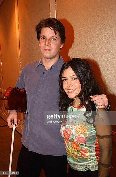 Joshua Bell and Lili Haydn during Reception for Society of Composers Lyricists for a performance of excerpts of the score of Iris in Beverly Hills...