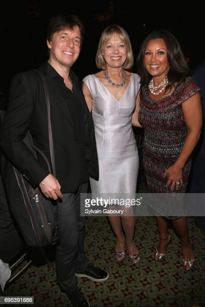 Joshua Bell Karen Karlsrud and Vanessa Williams attend 2017 Education Through Music Children's Benefit Gala on June 12 2017 in New York City