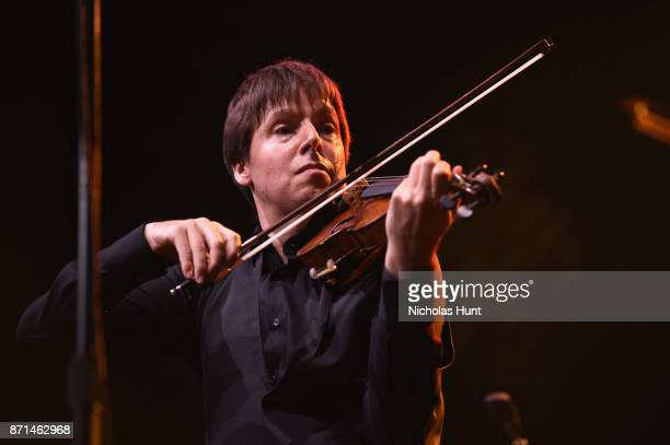 Joshua Bell performs at the Elton John AIDS Foundation 25th Year And Honors Founder Sir Elton John During New York Fall Gala at Cathedral of St John...