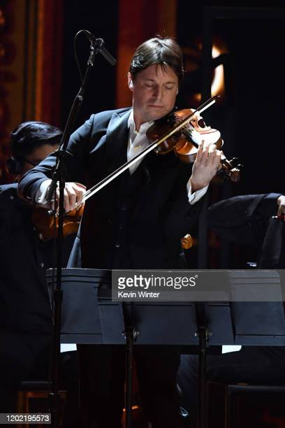 Joshua Bell performs onstage during the 62nd Annual GRAMMY Awards at STAPLES Center on January 26 2020 in Los Angeles California