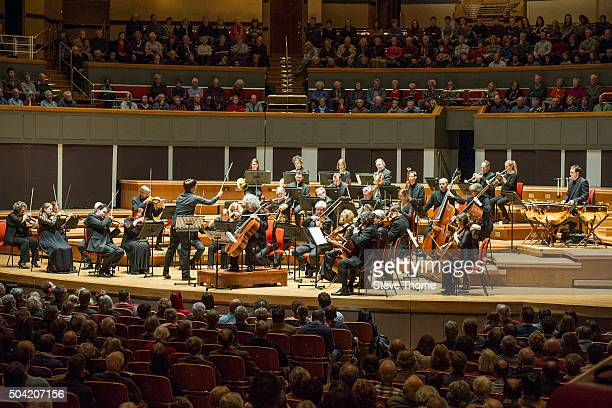 Joshua Bell Steven Isserlis And The Academy Of St Martin In The Fields perform at Symphony Hall on January 9 2016 in Birmingham England