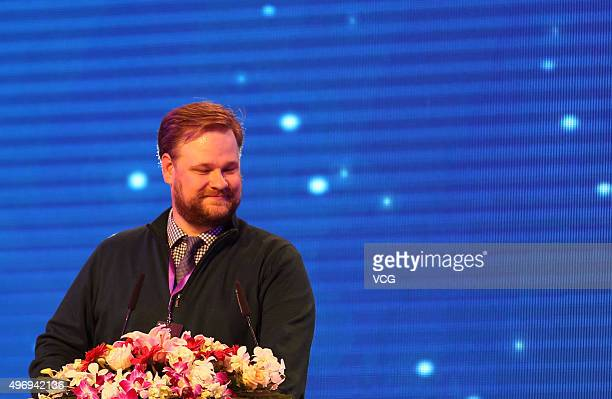 Joshua Benton director of the Nieman Journalism Lab attends the 2015 New Media Summit held by Sinacom at Sofitel Wanda Beijing Hotel on November 12...
