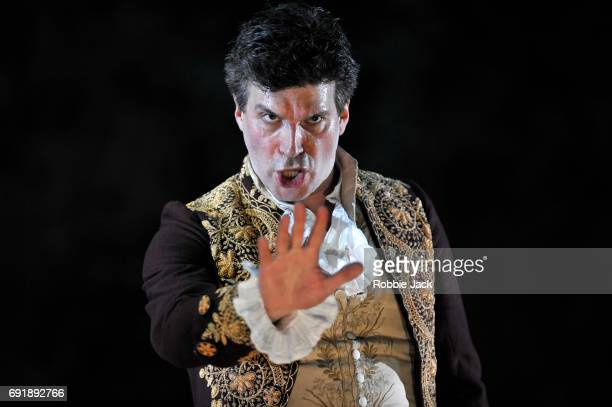 Joshua Bloom as Figaro in Garsington Opera's production of Wolfgang Amadeus Mozart's Le nozze di Figaro directed by John Cox and conducted by Douglas...