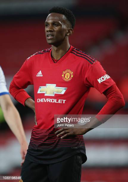 Joshua Bohui of Manchester United U23s in action during the Premier League 2 match between Manchester United U23s and Reading U23s at Old Trafford on...