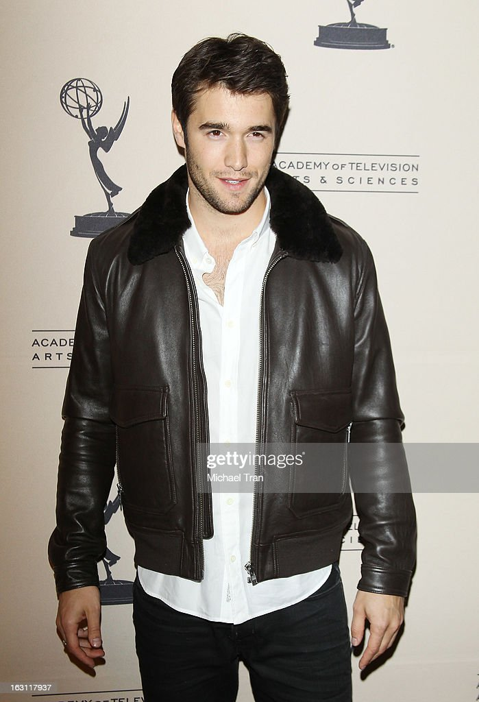 Joshua Bowman arrives at The Academy of Television Arts & Sciences presents an evening with 'Revenge' held at Leonard H. Goldenson Theatre on March 4, 2013 in North Hollywood, California.