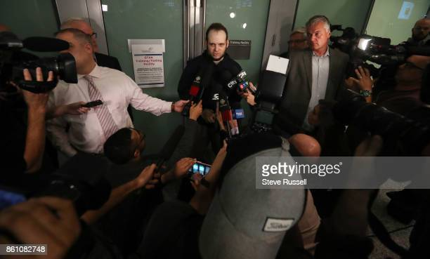 MISSISSAUGA ON OCTOBER 13 Joshua Boyle speaks to media He and his wife Caitlain Coleman and their two sons 4 and 2 and newborn daughter returned to...