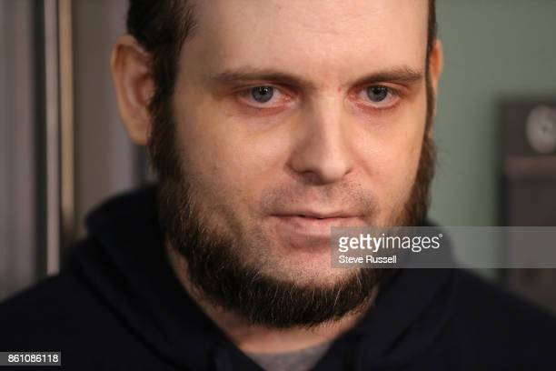 MISSISSAUGA ON OCTOBER 13 Joshua Boyle speaks to the media He and his wife Caitlain Coleman and their two sons 4 and 2 and newborn daughter returned...