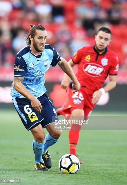 Joshua Brillante of Sydney FC during the round 16 ALeague match between Adelaide United and Sydney FC at Coopers Stadium on January 14 2018 in...
