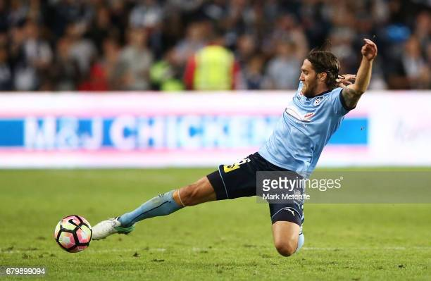 Joshua Brilliante of Sydney FC in action during the 2017 ALeague Grand Final match between Sydney FC and the Melbourne Victory at Allianz Stadium on...
