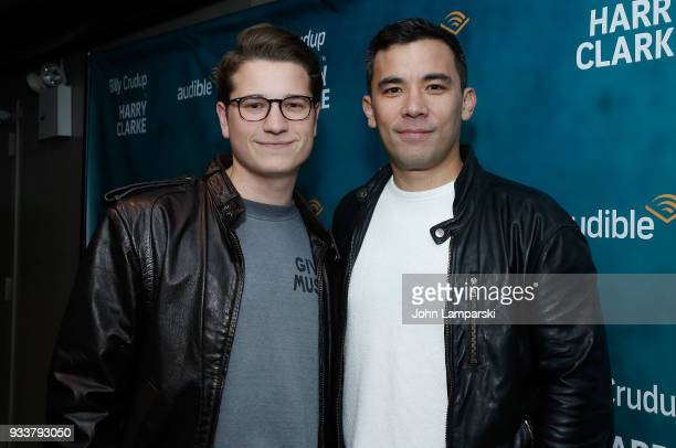 Joshua Cockream and Conrad Ricamora attend Harry Clarke opening night at the Minetta Lane Theatre on March 18 2018 in New York City