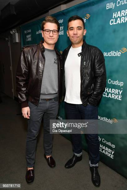 Joshua Cockream and Conrad Ricamora attend the Harry Clarke Opening Night at the Minetta Lane Theatre on March 18 2018 in New York City