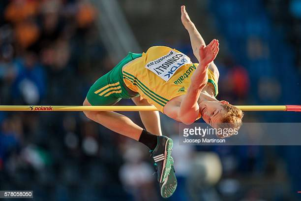 Joshua Connolly from Australia competes in menÕs high jump qualification round during the IAAF World U20 Championships at the Zawisza Stadium on July...