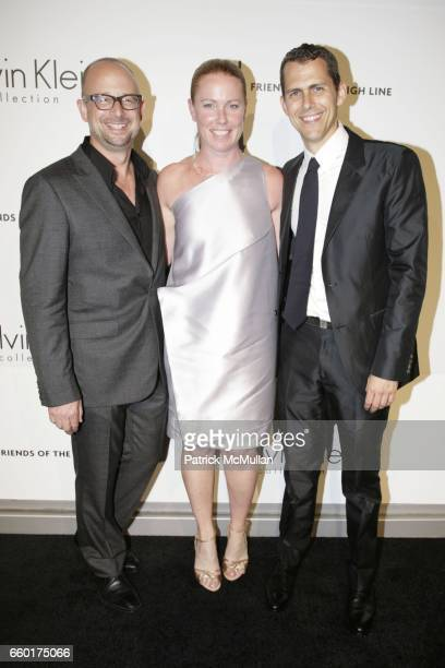 Joshua David and Jennifer Crawford Robert Hammond attend Calvin Klein Collection Presents 'First Party on the Highline' at The High Line on June 15...