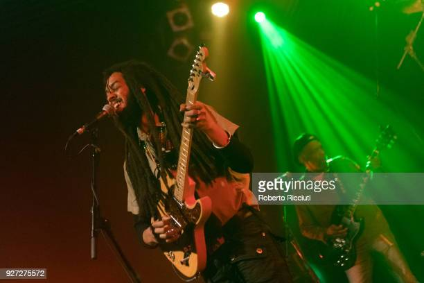 Joshua David Barrett and Donald Kinsey of The Wailers perform on stage at O2 ABC Glasgow on March 4 2018 in Glasgow Scotland