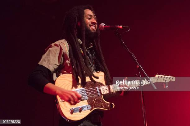 Joshua David Barrett of The Wailers performs on stage at O2 ABC Glasgow on March 4 2018 in Glasgow Scotland