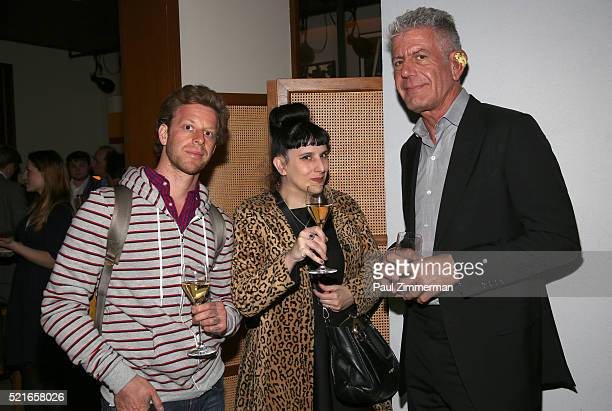 Joshua David Stein Kat Kinsman and Anthony Bourdain attend the CNN Films and ZPZ Production premiere party celebrating Jeremiah Tower The Last...