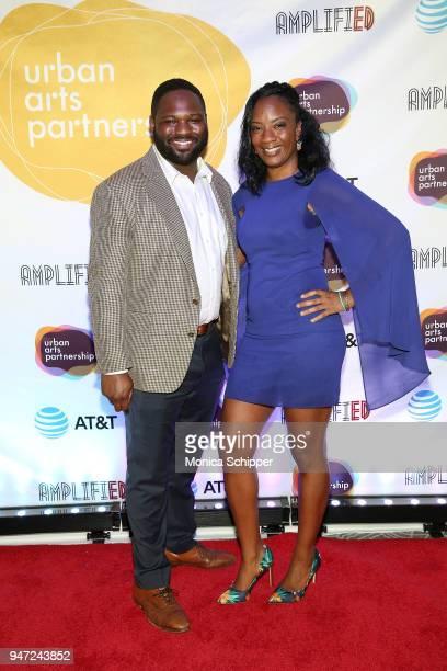 Joshua Davis and Katrina Perou attends the Urban Arts Partnership's AmplifiED Gala at The Ziegfeld Ballroom on April 16 2018 in New York City