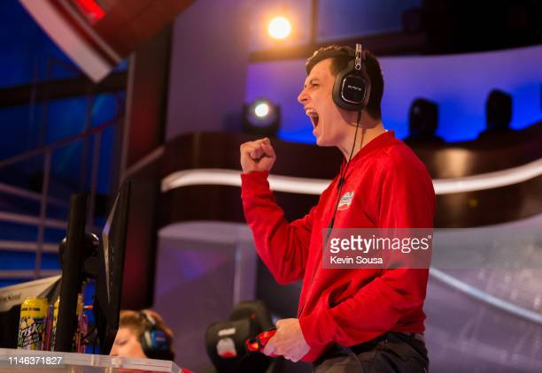 Joshua D'Eri during the 2019 NHL Gaming World Championship Canadian Regional Finals at the Sportsnet Studio on May 25 2019 in Toronto Ontario Canada