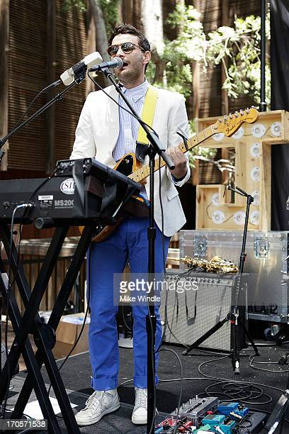 Joshua Epstein of Dale Earnhardt Jr Jr performs during WBR Summer Sessions at Warner Bros Records Boutique Store on June 14 2013 in Burbank California