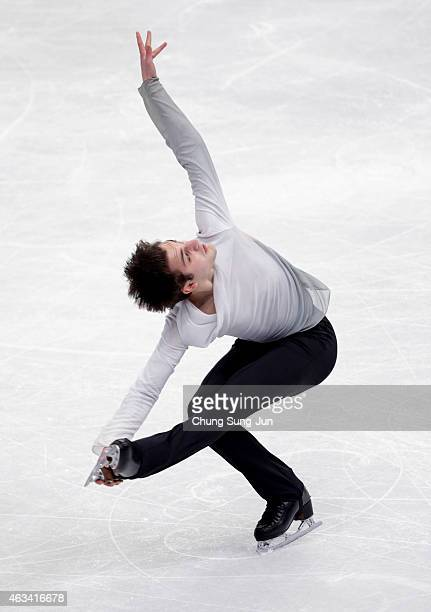 Joshua Farris of United States performs during the Men Free Skating on day three of the ISU Four Continents Figure Skating Championships 2015 at the...