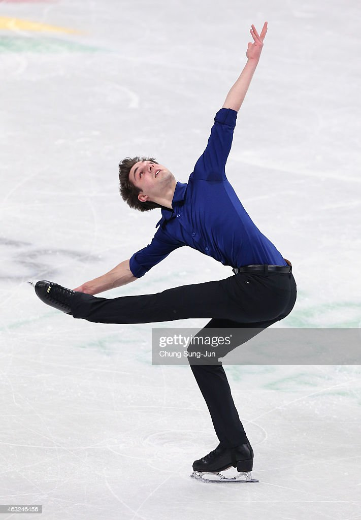 Joshua Farris of United States performs during the Men Short Program on day one of the ISU Four Continents Figure Skating Championships 2015 at the Mokdong Ice Rink on February 12, 2015 in Seoul, South Korea.