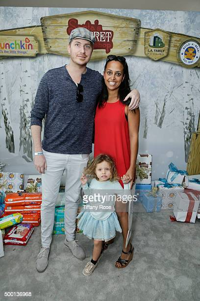 Joshua Faulkner Callaway FAulkner and producer Chudney Ross attend 2015 Santa's Secret Workshop Benefiting LA Family Housing at Andaz Hotel on...