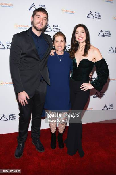 Joshua Feldman Deborah Calla and Shoshanna Stern attend the Media Access Awards 2018 on November 1 2018 in Los Angeles California