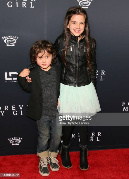 Joshua Fortson and Abby Ryder Fortson attend the premiere of Roadside Attractions' 'Forever My Girl' on January 16 2018 in Los Angeles California