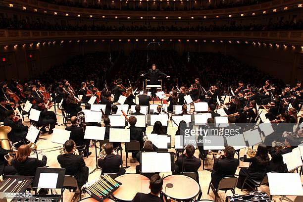 Joshua Gersen leading the New York Youth Symphony at Carnegie Hall on Sunday afternoon March 24 2013This imageJoshua Gersen leading the New York...