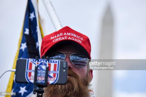 Joshua Glaspie of Chelsea Michigan attends the MOAR Mother Of All Rallies Patriot Unification Gathering on The National Mall on Saturday September 16...
