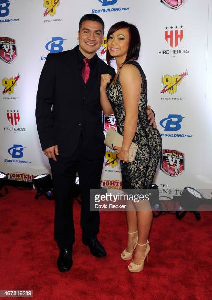 Joshua Gomez and his wife, mixed martial artist Michelle Waterson, arrive at the sixth annual Fighters Only World Mixed Martial Arts Awards at The...