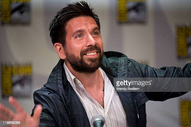 Joshua Gomez speaks on stage during day three of ComicCon 2011 held at the San Diego Convention Center on July 23 2011 in San Diego California