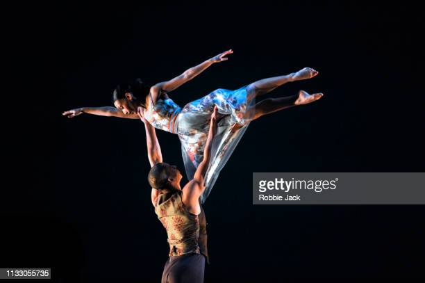 Joshua Harriette and Ellen Yilma in Richard Alston's Brahms Hungarian at Sadlers Wells Theatre on February 27 2019 in London England