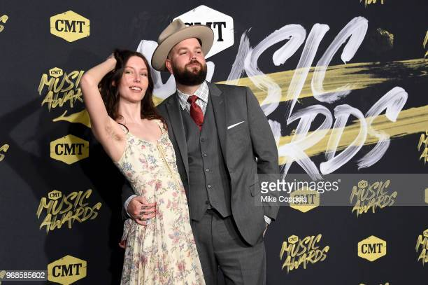 Joshua Hedley and guest attend the 2018 CMT Music Awards at Bridgestone Arena on June 6 2018 in Nashville Tennessee