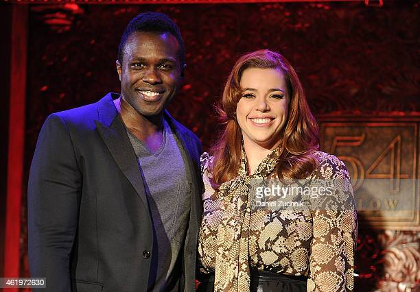Joshua Henry and Alysha Umphress attend the 54 Below Press Preview at 54 Below on January 22 2015 in New York City