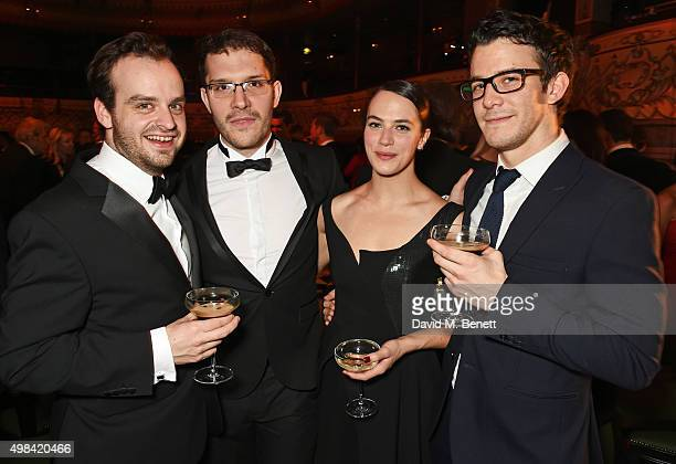 Joshua Higgott Robert Icke Jessica Brown Findlay and Luke Thompson attend The London Evening Standard Theatre Awards after party in partnership with...