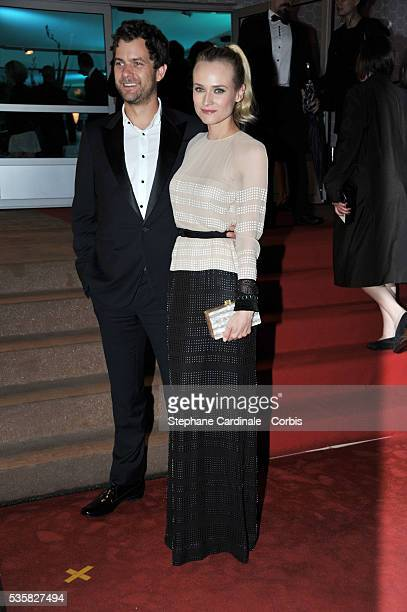 Joshua Jackson and Diane Kruger at Winners Dinner Arrivals during the 65th Cannes International Film Festival