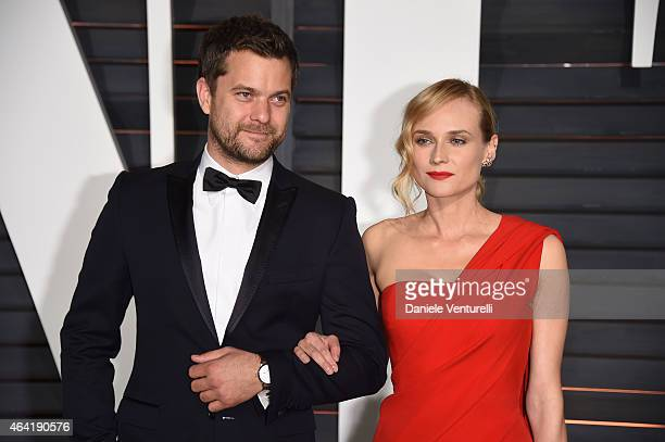 Joshua Jackson and Diane Kruger attend 2015 Vanity Fair Oscar Party Hosted By Graydon Carter at Wallis Annenberg Center for the Performing Arts on...